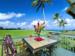 Spectacular Ocean and Golf Course views, 3 bedroom condo, Princeville