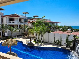 Beachfront condo with amazing ocean views, shared pools, and a great location!