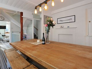 Large oak table, perfect for dining and socialising