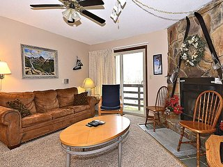 """Timberwolf Den"" A condo just steps from the Timberline ski lift and lodge"