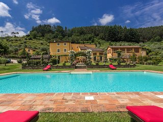 Farmhouse at 6 km from Lucca with pool,air-conditioner,wifi,gym, personal chef