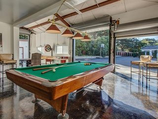 Home w/ two fully-appointed living areas plus game room, lounge, sauna, decks, Fort Bragg