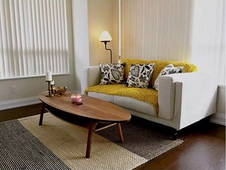Living room love seat.