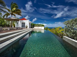 Ocean Dream Luxury Hilltop Designer Villa with Pool in St Barts, Gouverneur