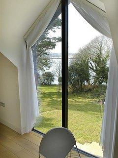 Upstairs window view.