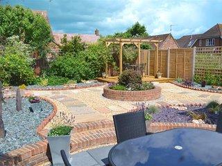 The rear courtyard garden.