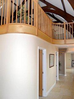 The downstairs corridor.