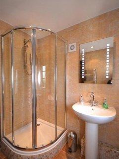 The luxury shower.