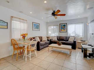 Charming home just 60 steps from the beach & boardwalk! Relax on the nice patio!