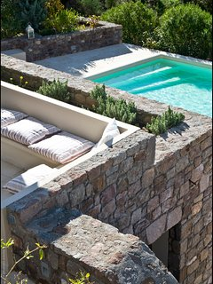LMG Villas: lower level, private swimming pool with sea view