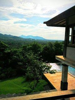 70 km far views towards the volcanos on Java