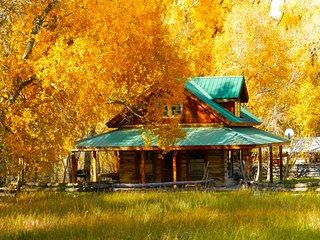 Historic Log Cabin on Creek, near Telluride