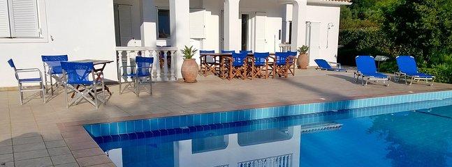 Pool terrace in early summer.