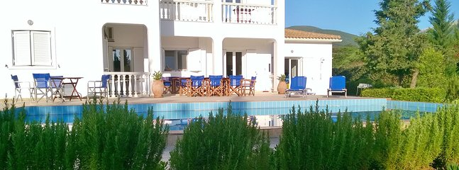Pool terrace at The Walnut Tree villa