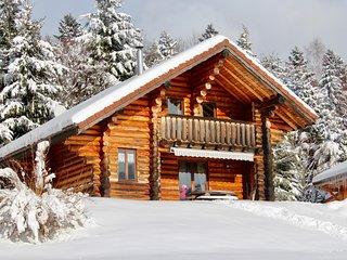 La fuste de Sertigoutte, chalet en rondins, kota-sauna et accès piscine pour 6