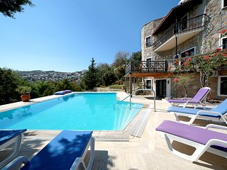 Secluded stone villa for large groups in Bitez with private pool & garden