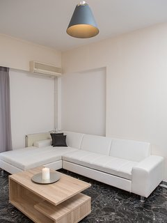 View of the spacious living room