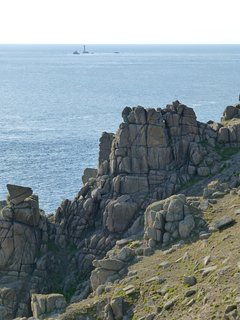 Towards Lands End and the Longships lighthouse; look out for dolphins and basking sharks.
