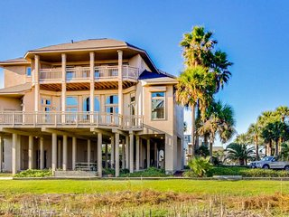 Dog-friendly family estate with large deck, patio & Gulf views - walk to beach!