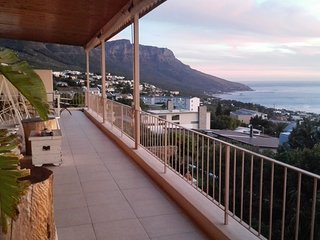 The balcony with amazing views