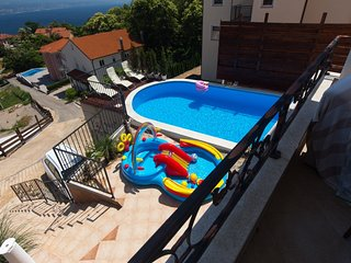 Apartment with 4 rooms in Opatija, with wonderful sea view, private pool