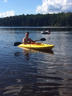 25 acre private lake for swimming and kayaking.