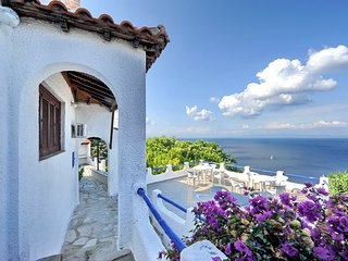 Villa VIOLA. Private access to the sea. Privileged view of the Egean sea.