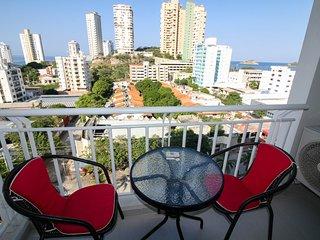 Hermoso apartamento con vista al mar 904R, Santa Marta