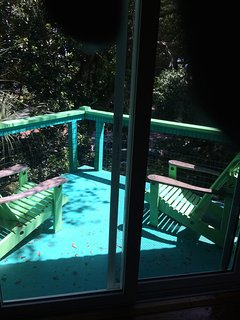 The tree top deck, great for morning sun.