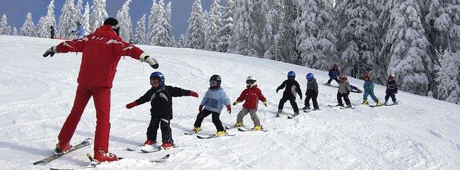 École ski  Accès par tire-fesse à 100 m.