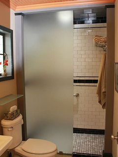 Private bath with large walk-in shower