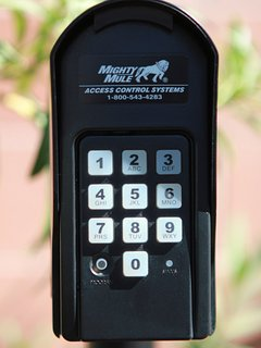 Gate keypad for guest access using assigned PIN