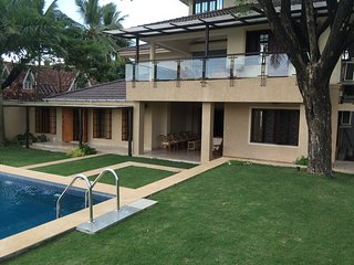 A Waterfront Mansion with pool in Ernakulam
