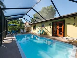 Isle del Sol is a Spacious and Private Pool home just a short walk to the Pier, Fort Myers Beach