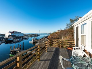 SMITD - Top Side  Cottage, set in the Iconic Village of Menemsha and Overlooking all of Menemsha  Harbor, 300 Yards to the Beach, 50 Yards to the Market, 200 yards to Village, Fish Markets and Eateries, Chilmark