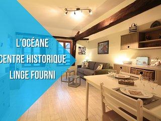 L'OCEANE : CENTRE HISTORIQUE + LINGE FOURNI
