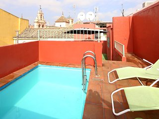 Archeros Terrace. 1 bedroom, terrace and private pool, Sevilla