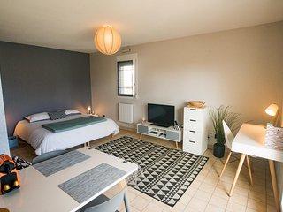 Grand studio avec balcon-terrasse - Tres lumineux