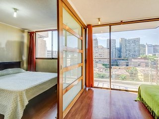 Romantic getaway with city views, shared pool, and convenient location