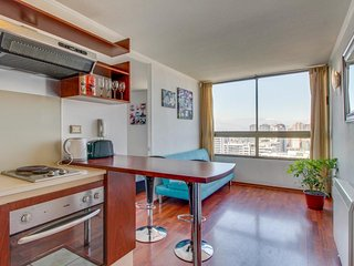 City view condo with a shared rooftop terrace, pool, BBQ area & fitness center!