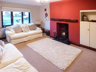 GRIMBLES, semi-detached, conservatory, woodburning stove in Newby Bridge, Ref