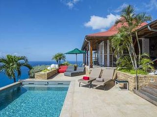 Lovely 3 Bedroom Villa with Ocean View in Colombier, Anse des Flamands