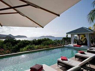 Spacious 7 Bedroom Villa with View of Lorient Bay in Camaruche, St. Jean
