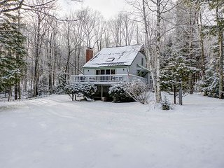 Mountainside Chalet Between Attitash & Wildcat-Cozy Fireplace, Dogs Welcome!