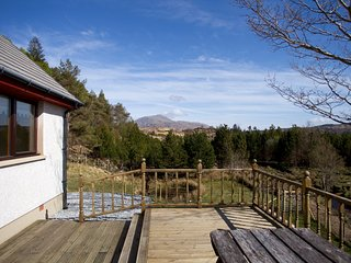 Decking Area with views to Ben Resipole