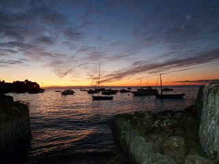 Sunset at Parrog, Newport.