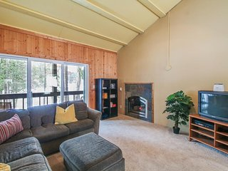 Dog-friendly, waterfront condo with mountain views - close to skiing, Soda Springs