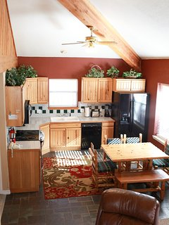 View of the kitchen and living room