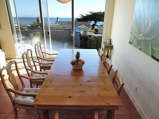 View of ocean from dining-room table