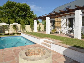 Room 1 selfcatering or B&B, with private patio in lush garden setting and pool